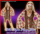 FANCY DRESS COSTUME #1960'S GROOVY HIPPY BABY MED 12-14